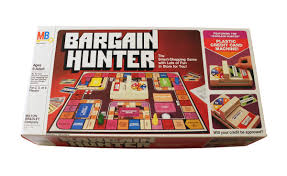 Photograph Of Bargain Hunter Board Game Released In 1981