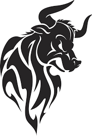 Angry Bull Tribal Tattoo