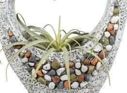 dekojohnson blumentopf herz 36x47cm hoch großes pflanzgefäß für innen außen blumentopf pflanztopf blumenkübel stones