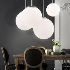 etc shop led pendelleuchte decken leuchte wohnzimmer kugel hänge beleuchtung glas le satiniert im set inkl led leuchtmittel kaufen otto