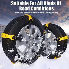 100 Snow Chains For Trucks 10Pcs Universal Winter Mud Antiskid Tire Tendon For Car