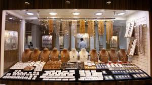A Window Display Is Seen At Jewellery Store Gold And Diamond Park