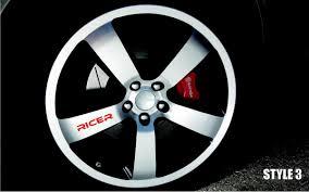 100 16 Inch Truck Wheels For X8 RICER Car VINYL Sticker Decal Wheel Racing Rim