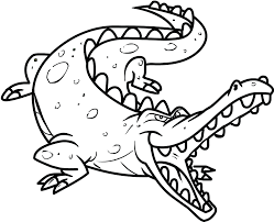 Coloring Pages Animals In Winter Of Games And Their Babies Crocodile To Print Full Size