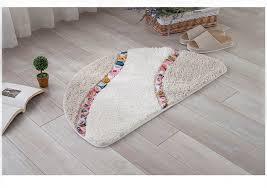 نصف دائرة الزهور الربط الكلمة حصيرة ستوكات السجاد للمطبخ 40 60 50 80 سنتيمتر المضادة للانزلاق ممسحة غرفة نوم الحمام السجاد المرحاض