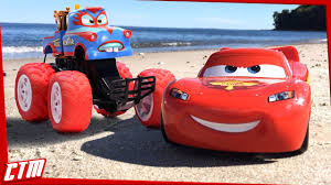Disney Pixar CARS TOON Mater Monster Truck & Lightning McQueen ...