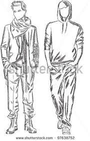 Vector Sketch Of Fashionable Men By SketchMaster Via ShutterStock
