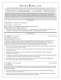 Sample Resume For An Entry Level CPA