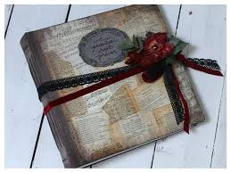 Items Similar To Rustic Inch Wedding Photo Album Love Letter Romance Novel Collage Distressed Vintage Style Hand Bound Red Black On