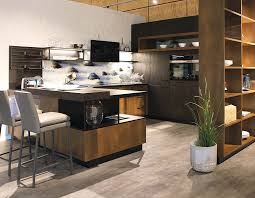 schüller küche linea mit braunen fronten