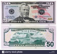 50 Dollars Banknote President Ulysses Grant United States Capitol Building USA 2009