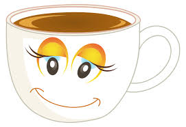 Anthropomorphic Happy Female Cup Of Coffee Or Tea Redrawn