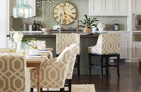 Kitchen With Matching Bar Stools And Dining Chairs