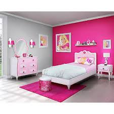 Barbie 4 Piece Bedroom in a Box Furniture Set Twin Bed