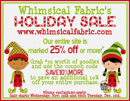 Whimsical Fabric: Huge Sale, $100 In Coupons Giveaway, New ... Fabric Sale Fabricland Coupon Canada Barilla Pasta Printable Coupons Joann Fabric Code 50 Off Zulily July 2018 10 Best Joann Coupons Promo Codes 20 Off Sep 2019 Honey Ads And Indie Fabric Shop Roundup Coupon Chalk Notch Find Great Deals On Designer To Use Code The Big List Of Cadian Online Shops Finished Fabriccom How Order Free Swatches At Barnetthedercom