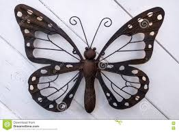 Download Butterfly Made Of Metal Stock Photo Image Handicraft