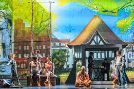 A Scene Set In Soho Square