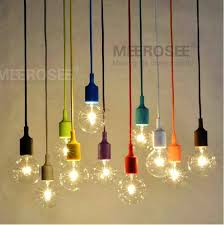 colorful e27 socket pendant light suspension drop l modern