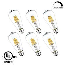 lightstory led filament bulb st19 6w clear led edison bulb 60w