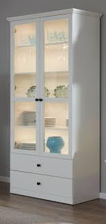 vitrinenschrank weiss landhaus vitrine wohnzimmer esszimmer