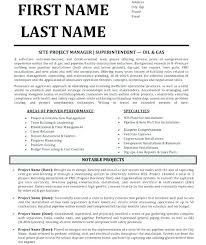 Construction Superintendent Resume Templates Samples Example Project Commercial