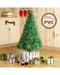 Huge Deal On 4FT 5FT 6FT 7FT 8FT Unlit Christmas Tree W Stand Indoor