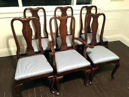 Queen Anne Dining Table Ethan Allen Set Of 6 Court Chairs With