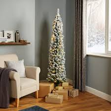 Pre Lit Pencil Christmas Trees Uk by Christmas Trees Artificial Christmas Trees Diy At B U0026q