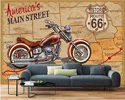 tapetenbilder für zimmer wand motorrad vintage linie doodle