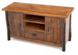 Rustic Hickory Two Door Entertainment Center