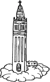 Church Clock Tower Coloring Pages