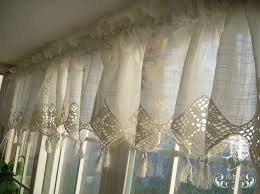 White French Country Kitchen Curtains by Impressive Lace Kitchen Curtains And White Lace Kitchen Curtains