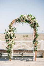 Southern Wedding Floral Ceremony Arch