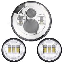 7 chrome harley daymaker led headlight auxiliary l