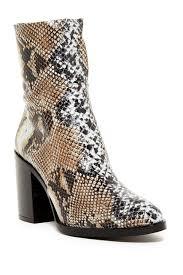 TOPSHOP Million Snake Print Sock Boot
