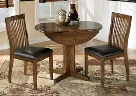 Stuman Round Drop Leaf Table W 2 Side Chairs