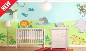 stikers chambre bebe stickers savane stickers chambre bébé leostickers