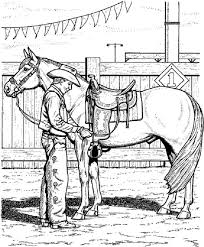 Cowboy Coloring Pages With His Horse