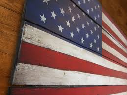 Nice Flag Usa Rustic Wood Wall Art