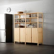 ivar 2 sections shelves cabinet pine 174x50x179 cm