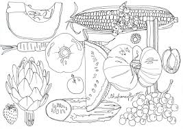 Best Ideas Of Fruits And Vegetables Coloring Book Also Resume