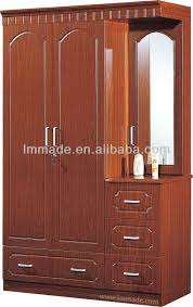 Wooden Three Doors Mirror Door Cheap Wardrobe Closet Buy