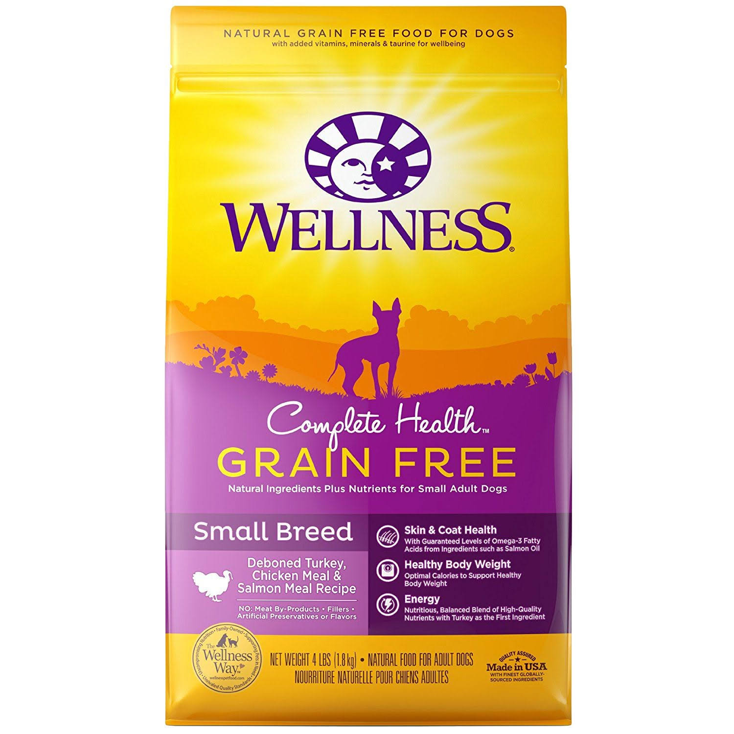 Wellness Complete Health Natural Grain Dry Dog Food - Turkey, Small Breed