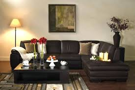 Dark Brown Couch Living Room Ideas by Stupendous Brown Sectional Living Room U2013 Kleer Flo Com
