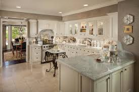 Antique White Kitchen Design Ideas by Antique Wrought Iron Small Kitchen With Grey Granite Countertop