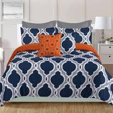 J Queen New York Kingsbridge Curtains by Crest Home Ellen Westbury 7 Piece King Comforter Bedding Set Navy