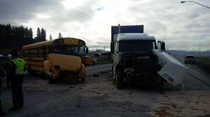 Semi Truck Crashes Into School Bus Near Colville; Bus Driver ... Semi Truck And Mustang Collide In Utah County Multiple Injuries 18yearold Reidsville Woman Injured Crash With Semitruck News 2 People Dog Rescued From Semi Accident On Route 53 Long Semitrucks Speeding Icy Roads Leads To Crashes I94 Berrien Man Young Girl Killed Volving West Phoenix Semitruck Rollover Near Watauga Lake Semitruck Driver Cited Speed Infraction That Traffic Stopped Along Ogchee Road At Berwick Boulevard After Causes I65 Choking Chocolate Toyota Dealership Displays 2018 Camry That Got Rearended By Fatal Crash Grove Il 6102014 Firefighter Jobs Truck Dumps 46000 Pounds Of Lumber Wolf Creek Pass