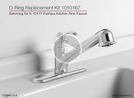 Kohler Forte Kitchen Faucet Wont Swivel by Instructional Video O Ring Replacement On The K 12177 Fairfax