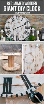 Make A Giant Reclaimed Wood Clock From An Electrical Reel ... Rustic Wall Clock Oversized Oval Roman Numeral 40cm Pallet Wood Diy Youtube Pottery Barn Shelves 16 Image Avery Street Design Co Farmhouse Clocks And Fniture Best 25 Large Wooden Clock Ideas On Pinterest Old Wood Projects Reclaimed Home Do Not Use Lighting City Reclaimed Barn Copper Pipe Round Barnwood Timbr Moss Clock16inch Diameter Products