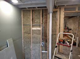 Hardie Tile Backer Board Fire Rating by Basement Permanent Wall Drywall Hanging Two Flat Remade